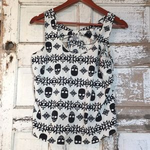 Tops - Skull Top with Tribal Pattern